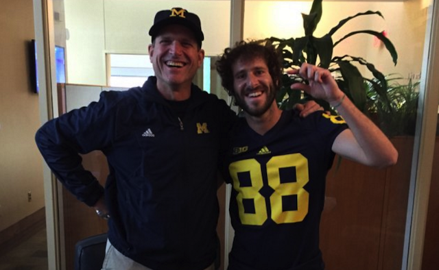 45ae07086dd WATCH  Jim Harbaugh gets real American at a Lil Dicky concert ...