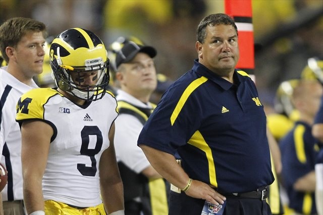 Brady Hoke will hope the Wolverines' next trip to Arlington goes better than their last. (USATSI)