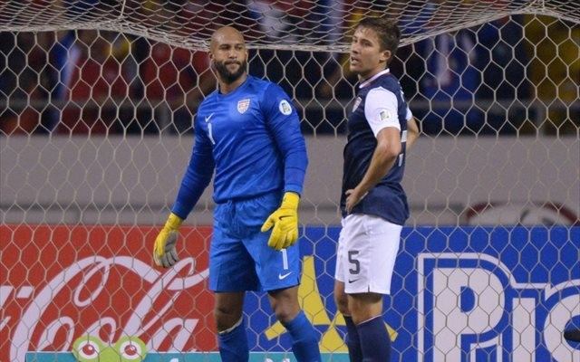 It was a rough night at the office for Tim Howard and Matt Besler. (USATSI)