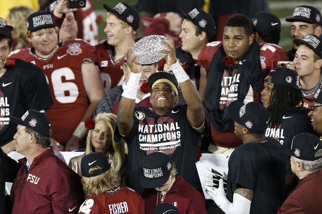 Jameis Winston will aim for holding a second crystal football a year from now. (USATSI)