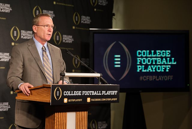 Jeff Long and the College Football Playoff have a corporate sponsor. (USATSI)
