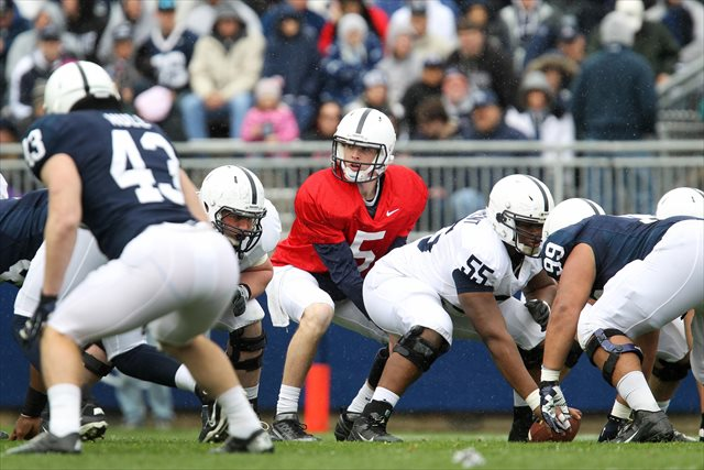 Tyler Ferguson takes snaps for Penn State in the Blue-White Game. (USATSI)