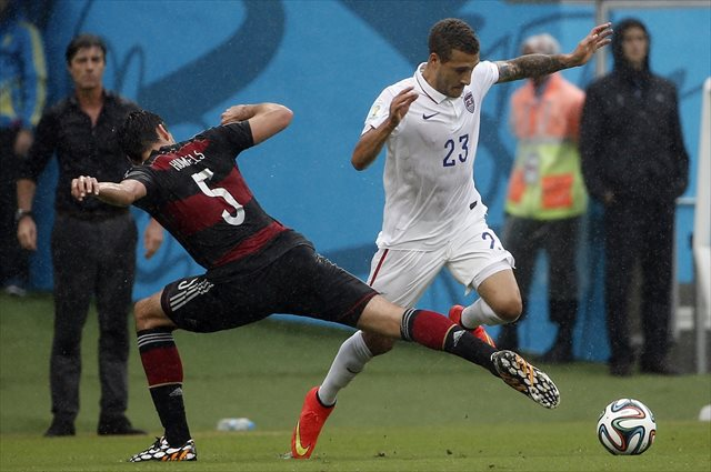 Fabian Johnson and the USA are through to the Round of 16. (USATSI)