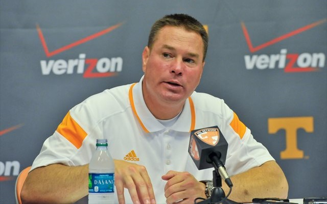 Butch Jones has a decision to make at left tackle. (USATSI)