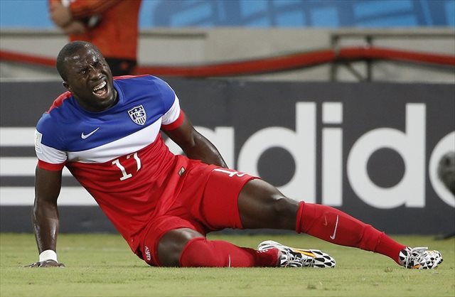 Jozy Altidore's hamstring injury hasn't ruled him out of the World Cup just yet. (USATSI)