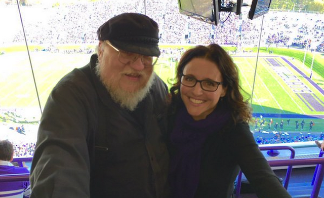 Look julia louis dreyfus and george r r martin attend for Where did julia louis dreyfus go to college