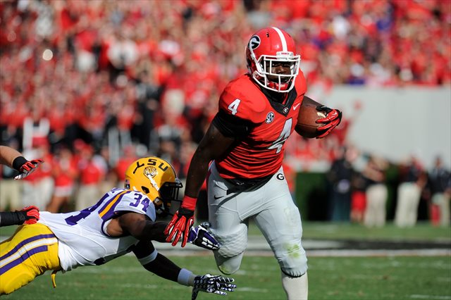 Keith Marshall took a major blow to his right knee. (USATSI)