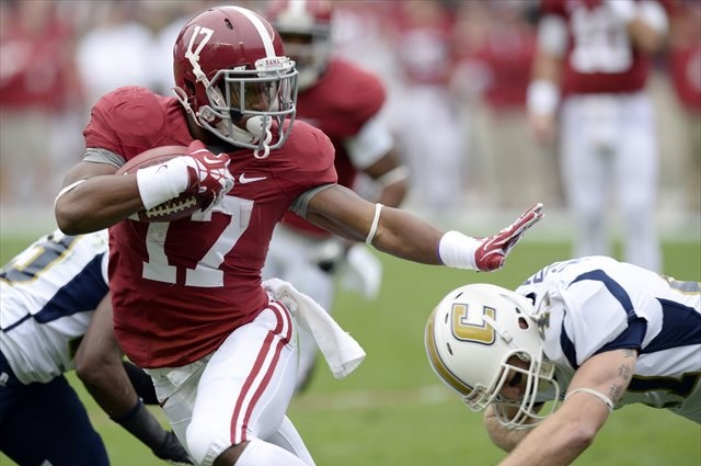 Kenyan Drake rushed for 694 yards in 2013. (USATSI)