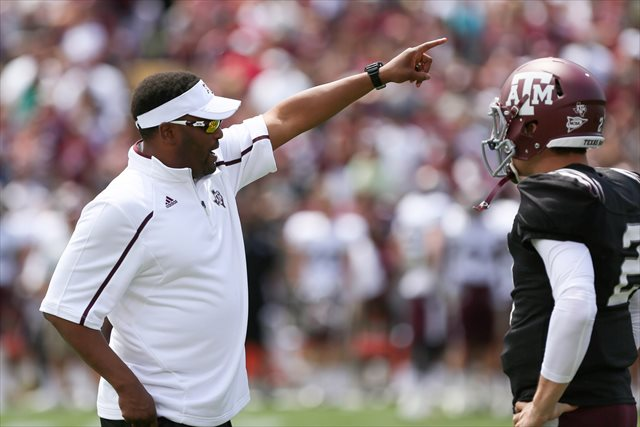 Could Kevin Sumlin's Aggies get dinged for the NCAA inquiry into Johnny Manziel's eligibility? (USATSI)