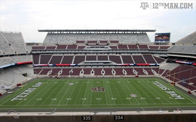Look Texas Am Unveiled New Kyle Field With A 12 Pound Hot