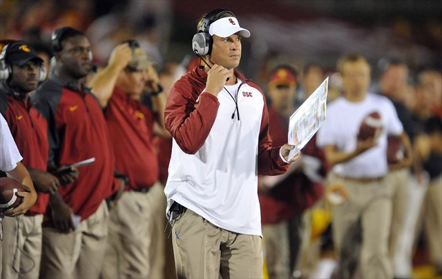 Lane Kiffin is living in interesting times at USC. (USATSI)