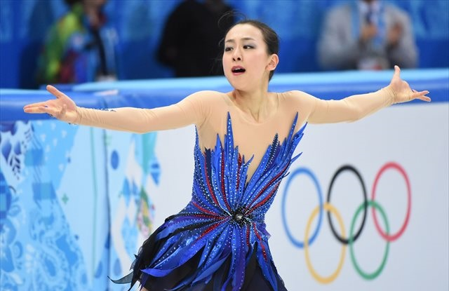Mao Asada competes in Thursday's free skate. (USATSI)