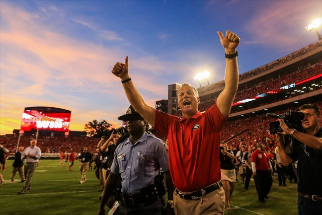 Mark Richt has his Bulldogs back in the national title hunt. (USATSI)