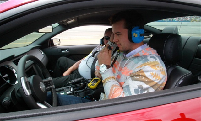 McCarron takes the wheel of the pace car. (Getty Images)