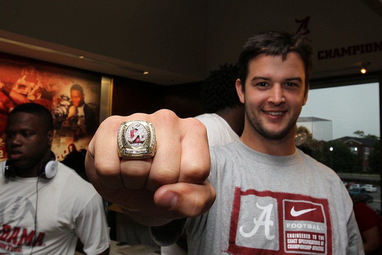 Photos alabama receives championship rings for Tattoos in tuscaloosa