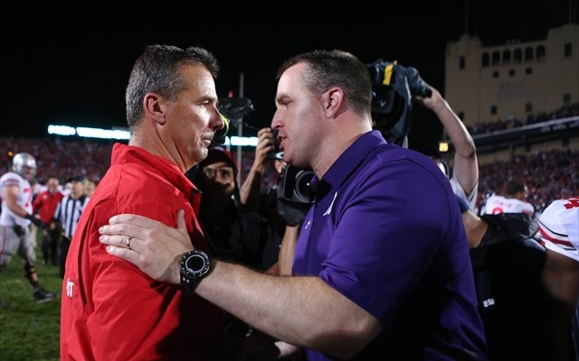 Urban Meyer and Pat Fitzgerald didn't care about the final touchdown. But some people did. (USATSI)