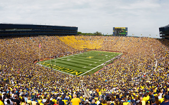 Michigan fans pack the house in the season opener against Appalachian State. (USATSI)