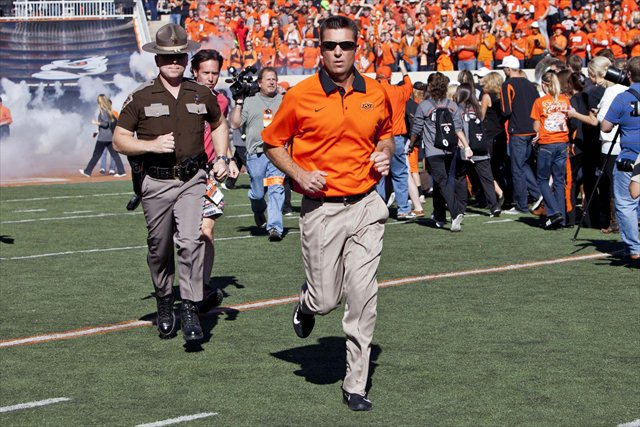 Mike Gundy looks poised for another big season at Oklahoma State. But how big? (USATSI)