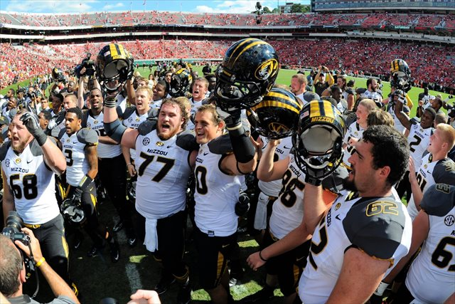 Missouri looks to make Week 7's biggest move in the polls. (USATSI)