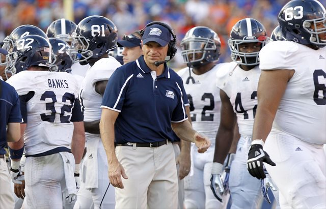 Jeff Monken gas gone 38-16 in four seasons in Statesboro. (USATSI)