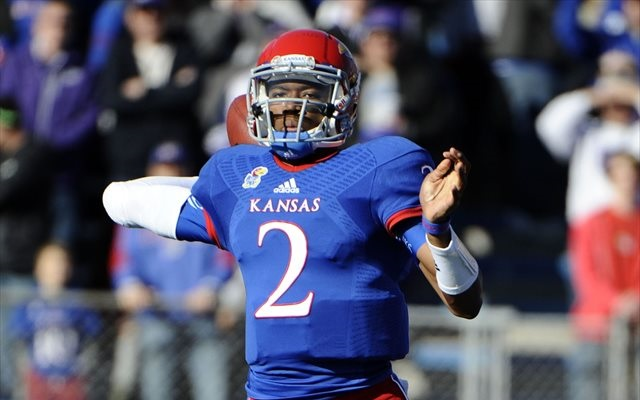 Montell Cozart ran for two touchdowns in the Jayhawks' spring game. (USATSI)