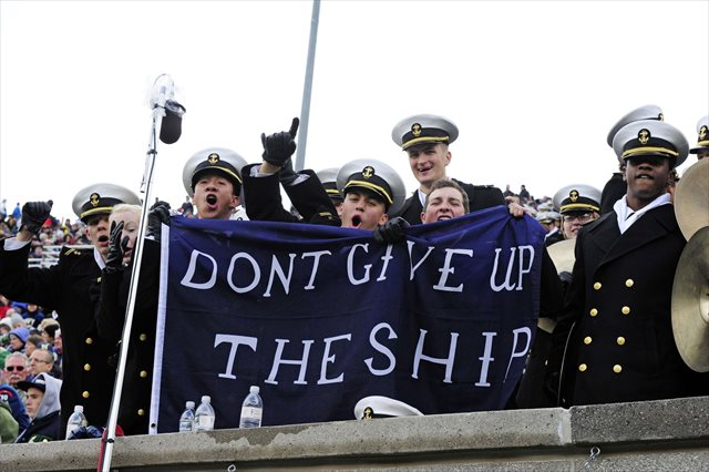 Navy is still hoping to play Air Force as scheduled Saturday. (USATSI)