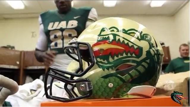 New UAB helmets. (USATSI)