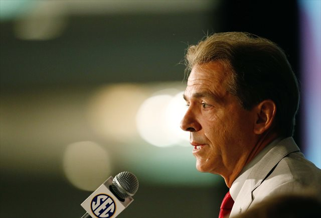 Nick Saban says it's important to preserve traditional rivalries. (USATSI)