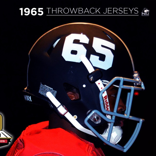 buy popular a6d7c ad73a LOOK: Northern Illinois unveils sweet 1965 throwback ...