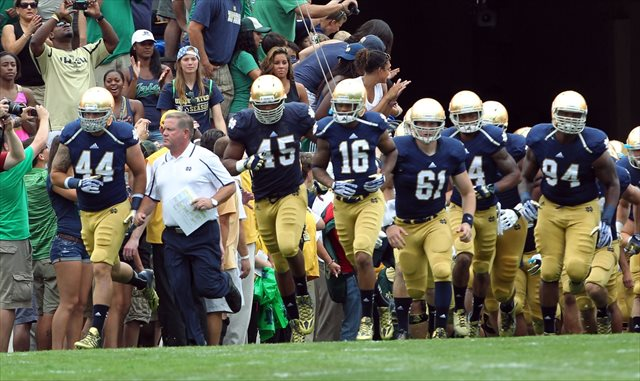 what was the score of the notre dame football game ncaa playoffs football