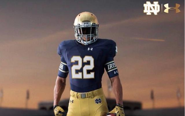 LOOK  Notre Dame s new uniforms for 2015 season not too different -  CBSSports.com 6bdbbabca