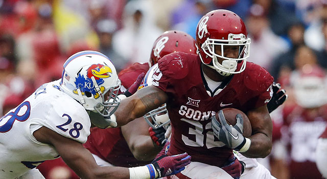 Samaje Perine made history against Kansas. (USATSI)