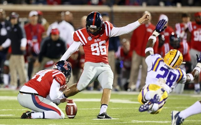 Andrew Ritter's field goal capped the fourth major upset of the SEC's Saturday. (USATSI)