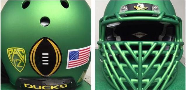 LOOK: Oregon's Rose Bowl helmets