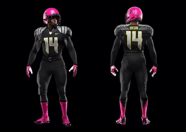 Oregon is going pink against Washington State this weekend