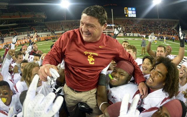 USC's players have responded to Ed Orgeron. (USATSI)