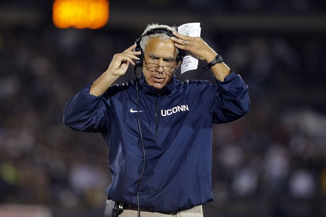 Paul Pasqualoni started 0-4 after losing records in his first two UConn seasons. (USATSI)