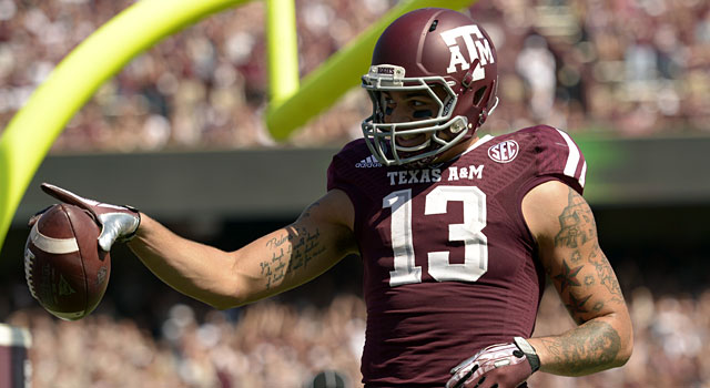 Mike Evans leads the SEC with 1,314 yards receiving and 12 TDs. (USATSI)
