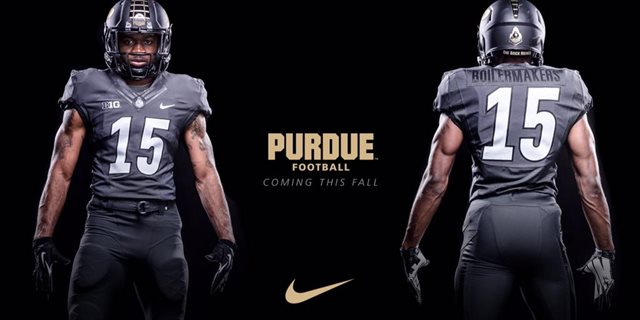 Purdue University Football Uniforms