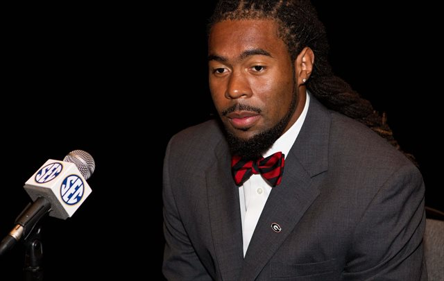 Ramik Wilson (shown at SEC media days) led the SEC in tackles in 2013. (USATSI)