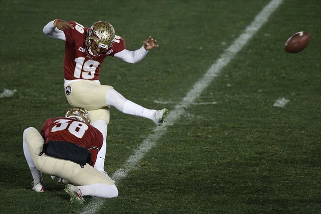 Roberto Aguayo missed only one of his 116 total kicks in 2013. (USATSI)
