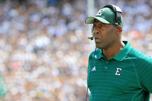 Ron English went 11-46 in 57 games at Eastern Michigan. (USATSI)