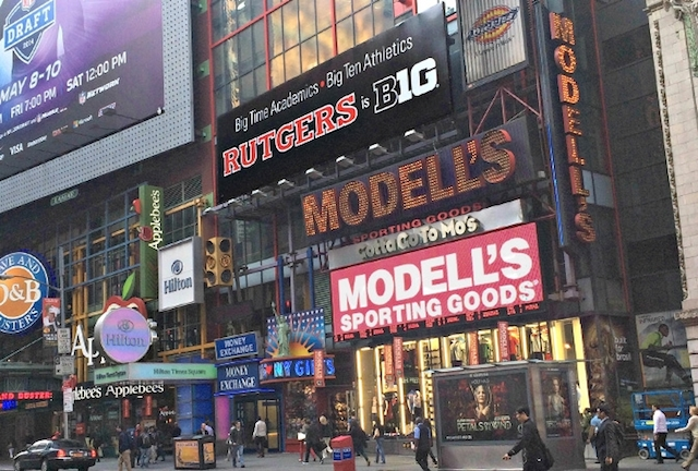 Rutgers Big Ten sign Times Square