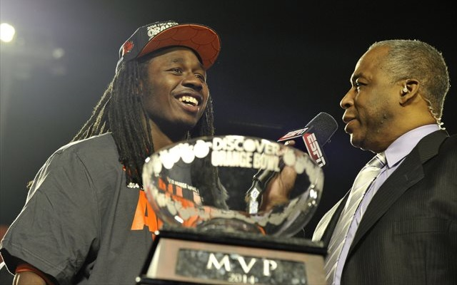 Sammy Watkins will take his Orange Bowl MVP trophy to the NFL. (USATSI)