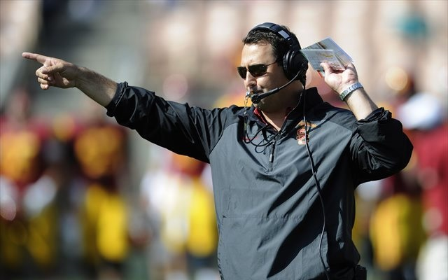 Steve Sarkisian acknowledged there are 'conflicting stories' regarding Josh Shaw's injuries. (USATSI)