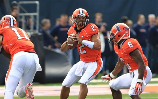 Nathan Scheelhaase has an off-field distraction to worry about as the Illini prep for Penn State. (USATSI)