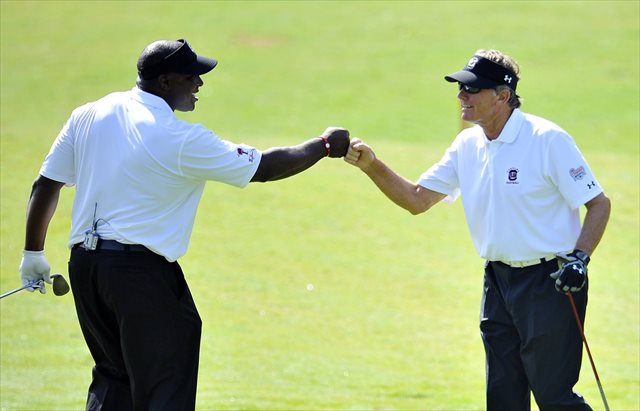$4 million buys a lot of golf rounds, maybe even another one with Sterling Sharpe. (USATSI)