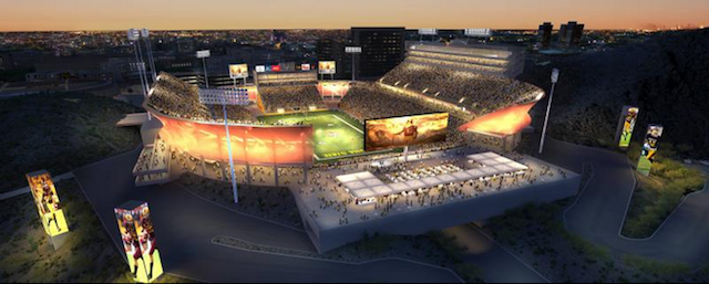 Sun Devil Stadium is getting a facelift