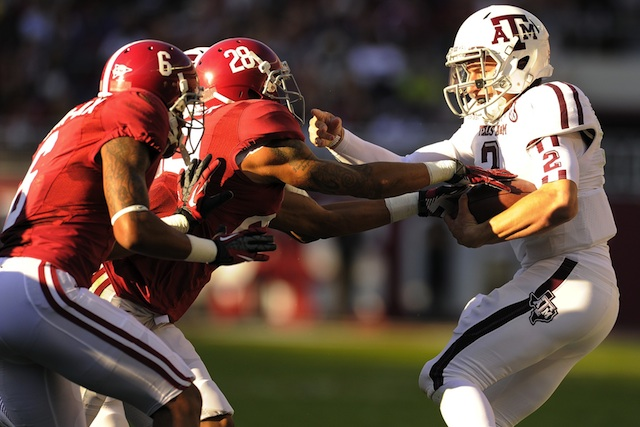 Alabama is a six point favorite for their rematch with Texas A&M in 2013, according to the Golden Nugget. (USATSI)