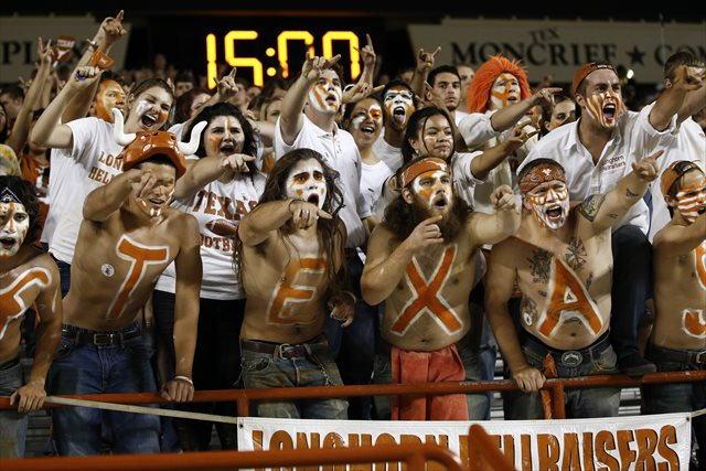 Texas could see a substantial payday from selling alcohol at Longhorn football games. (USATSI)